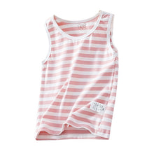 Load image into Gallery viewer, Unisex Cotton Sleeveless Striped Shirt