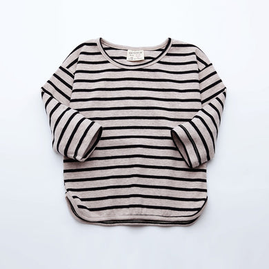 Unisex Baby Cotton Striped Long Sleeved Shirt