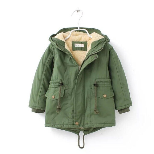 Unisex Sherpa Lined Canvas Coat