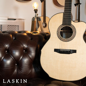 "The Sensational Laskin Mid-Size ""TNAG 10"" Anniversary Guitar Arrives"