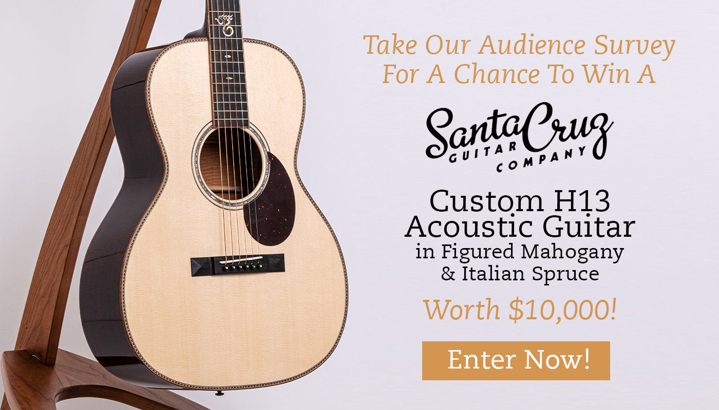 Win A Santa Cruz Custom H13 Acoustic Guitar Worth 10 000 The North American Guitar