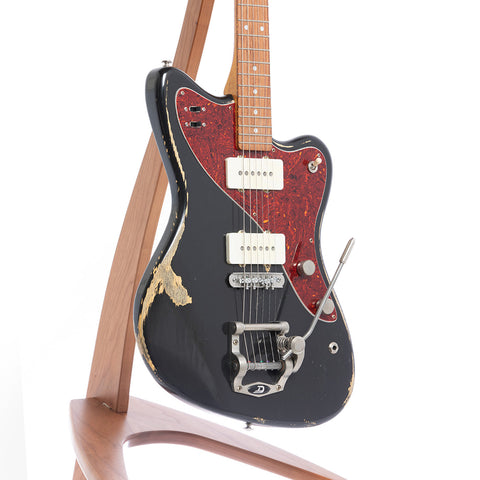 Bunting Melody Queen JM Electric Guitar, Tuxedo Black