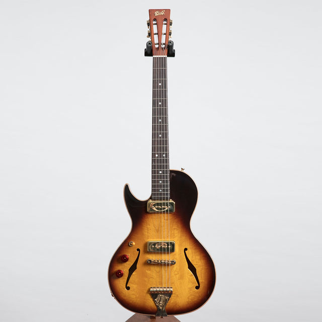 B&G Guitars Little Sister Crossroads Cutaway Electric Guitar, Tobacco Burst - Left Handed