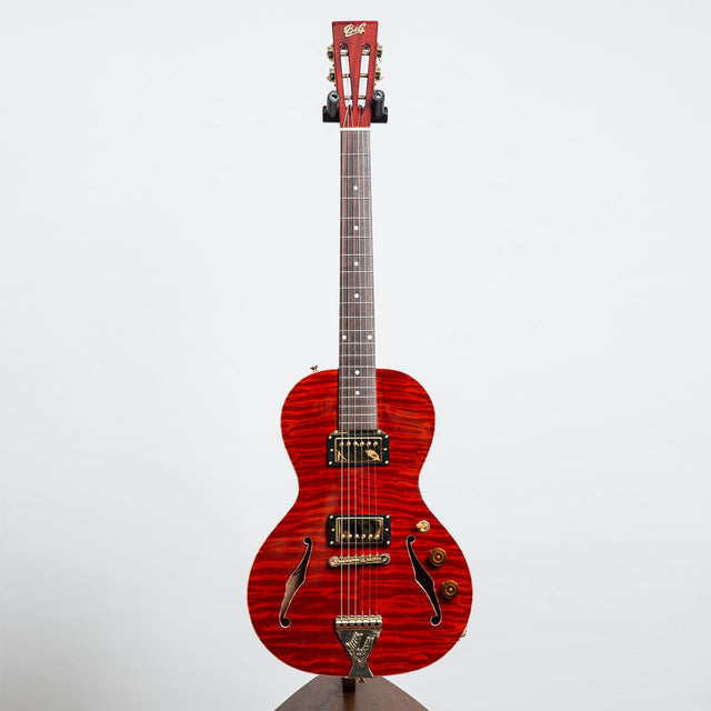 B&G Guitars Little Sister Private Build Electric Guitar #511 - Humbuckers, Non Cutaway, Queen of Hearts