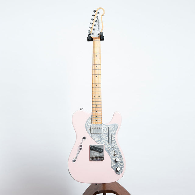 James Trussart Deluxe SteelCaster, Shell Pink on Relic Cream Roses