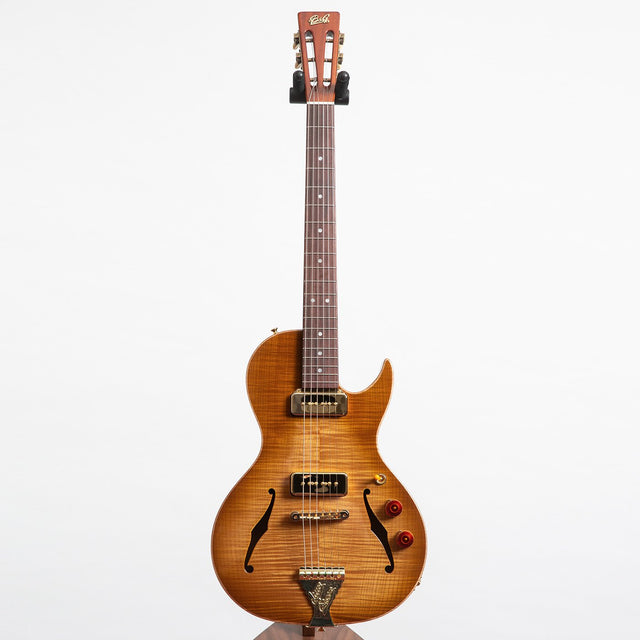B&G Guitars Little Sister Crossroads Cutaway Electric Guitar, Honey Burst