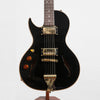 B&G Guitars Little Sister Crossroads Cutaway Electric Guitar, Left-Handed Midnight Ocean Humbuckers