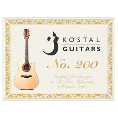 Kostal No.200 Modified Dreadnought Acoustic Guitar, 'The Tree' Mahogany & German Spruce