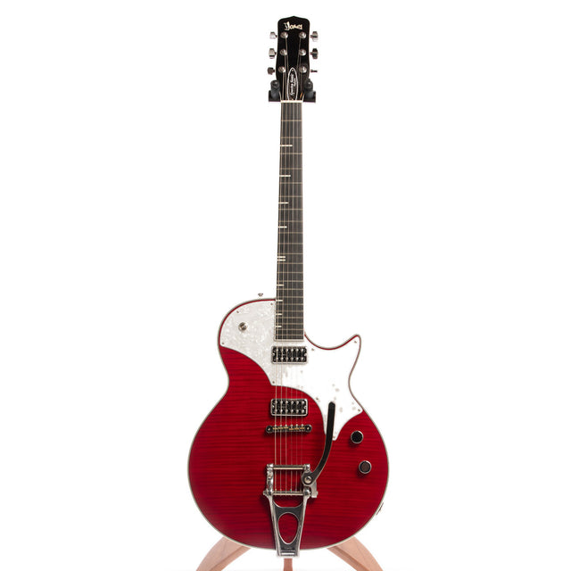 TV Jones Spectra Sonic Supreme Electric Guitar, Trans Scarlet Red