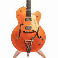 Gretsch G6120 Chet Atkins 125th Anniversary Electric Guitar, Transparent Orange Over Gold Leaf - Pre-Owned