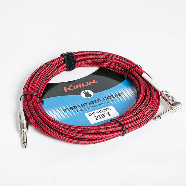 Kirlin 20ft Fabric Instrument Cable - Red