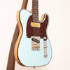 Red Rocket Antique Pine Atomic Electric Guitar, Pale Blue Gloss