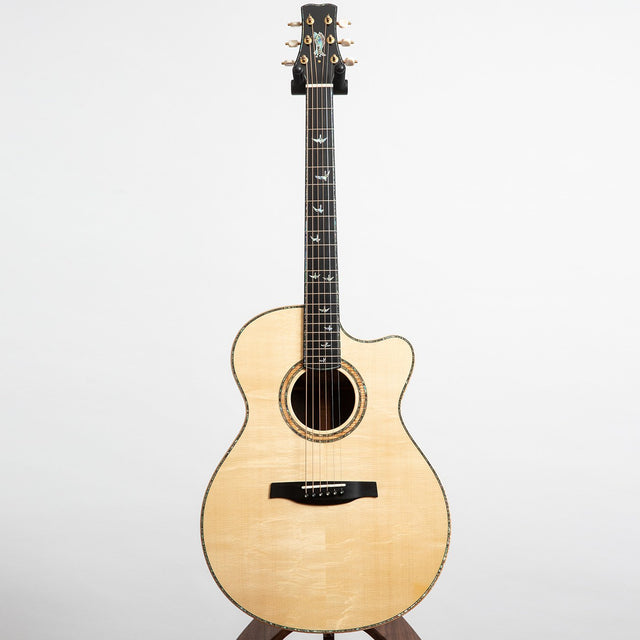PRS Private Stock Alex Lifeson Thinline Signature Acoustic Guitar, Brazilian Rosewood & European Bearclaw Spruce - Pre-Owned