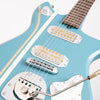 Baranik B1 Electric Guitar, Federal Blue with Racing Stripes