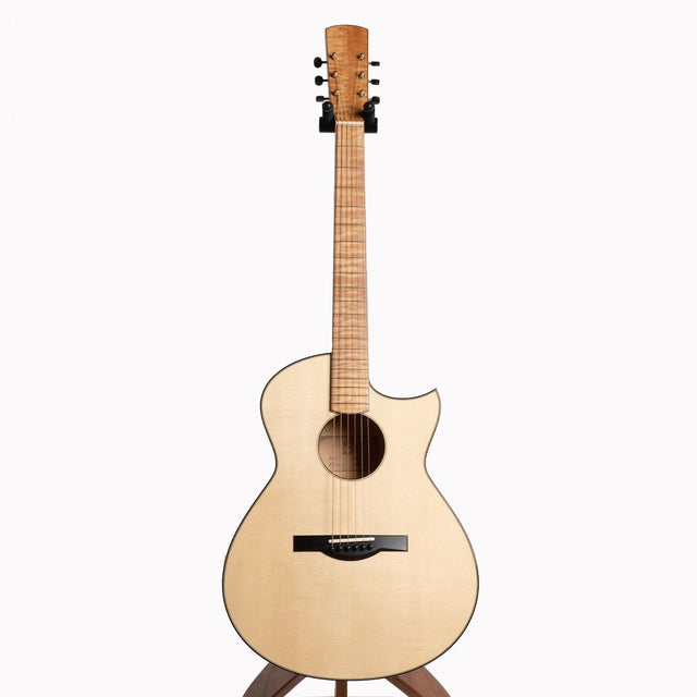Dion No.4 Acoustic Guitar, Quilted Maple & Italian Spruce
