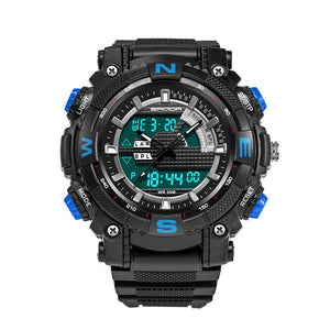 Men Dual Display Swimming Diving Sport Watch