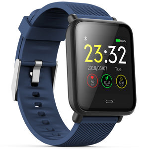Waterproof Sports Smart Watch for Android / iOS with Heart Rate Monitor Blood Pressure Functions