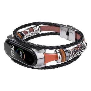 Buckle Metal Ethnic Beaded Retro Element Wristband