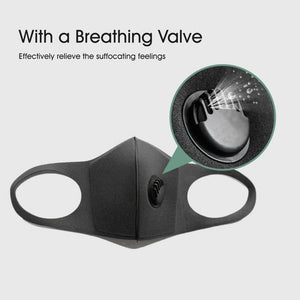 Face Mask Washable with Breathing Valve