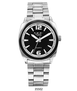 M Milano Expressions  Silver Metal Band Watch with Silver Case