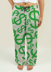 Ladies Pajama Pants with Dollar Signs
