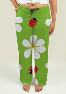 Ladies Pajama Pants with Floral Pattern