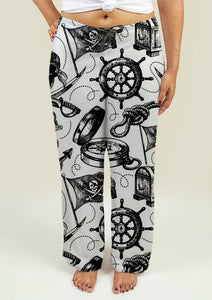 Ladies Pajama Pants with Pirate Design