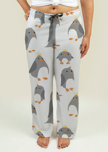 Ladies Pajama Pants with Cute Penguins