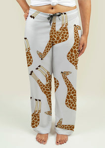 Ladies Pajama Pants with Giraffes