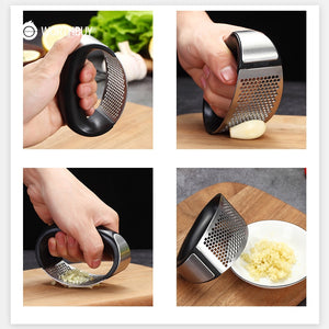 Stainless Steel Garlic Press Manual Garlic Grinder