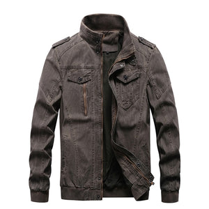 Vintage Military Denim Bomber Jackets for men