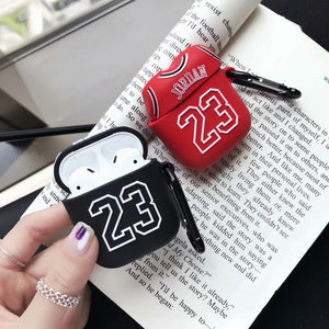 Basketball Flyman 23 Michael Jordan Cases for Apple Airpods Silicone Soft Cover