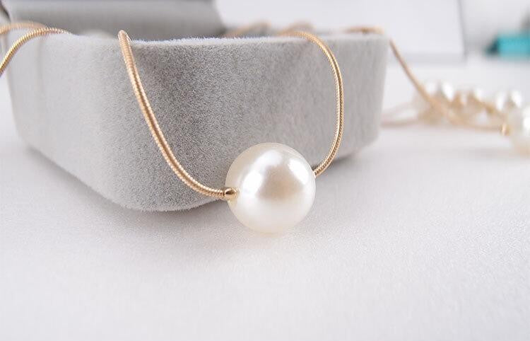 Double Layer Simulated Pearls Necklaces Clavicle Fashion Jewelry Sweater Chain Necklace