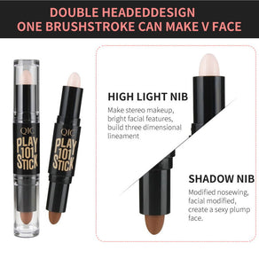 Makeup Creamy Double-ended 2 in1 base foundation Concealer