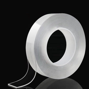 Double Sided Tape Recycle Use Strong Adhesive Waterproof Transparent Gel Grip Tape