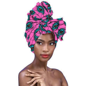 African head Scarf print cotton wax for women