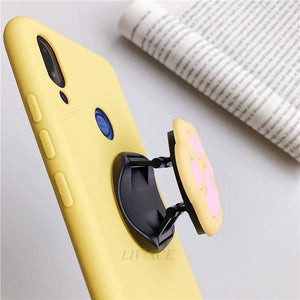 3D silicone cartoon phone holder for samsung galaxy note 10 plus