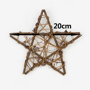 Dried Rattan Star frame Artificial flowers Wreaths Christmas decoration For Home DIY