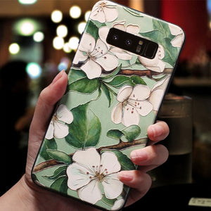 3D Floral Emboss Phone Case For Samsung Galaxy Note 10 Note10 Pro Note10+
