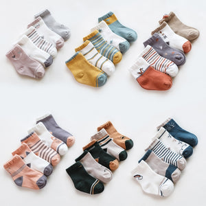 5Pairs/lot Infant Baby Socks