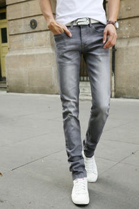 Men Casual Stretch Skinny Jeans Slim fit Trousers