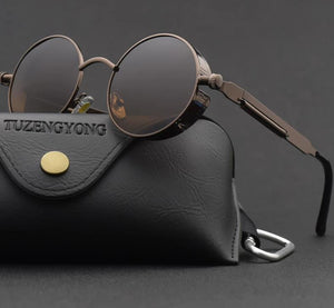 Polarized unisex Vintage Round Metal Frame Sun Glasses High Quality