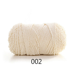 Rainbow Soft Cotton Yarn For Knitting Wool Thick