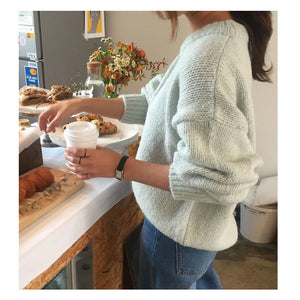 Loose One sized Sweater Lantern Sleeve Pullovers