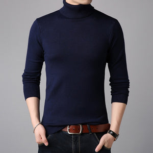 Warm Sweater Men Turtleneck Double collar