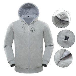 Thermostatic Heated Hoodie Temperature Controllable Sweatshirt Unisex