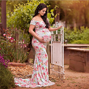 Lace Maternity Dress Maxi Gown