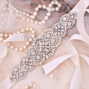Crystal Wedding Sash For Wedding Dress Accessories J104S