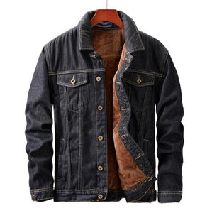 Fleece Lined Thicken Thermal Denim Trucker Jacket