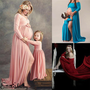Family Matching Maxi Gown Maternity Photography